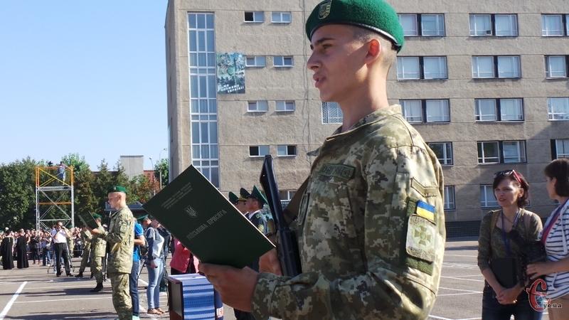 Відбулась церемонія приведення до військової присяги курсантів-прикордонників