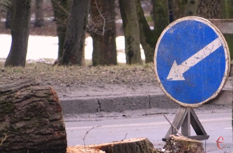 Через омолодження дерев на вулиці Чорновола буде змінено рух тролейбусів