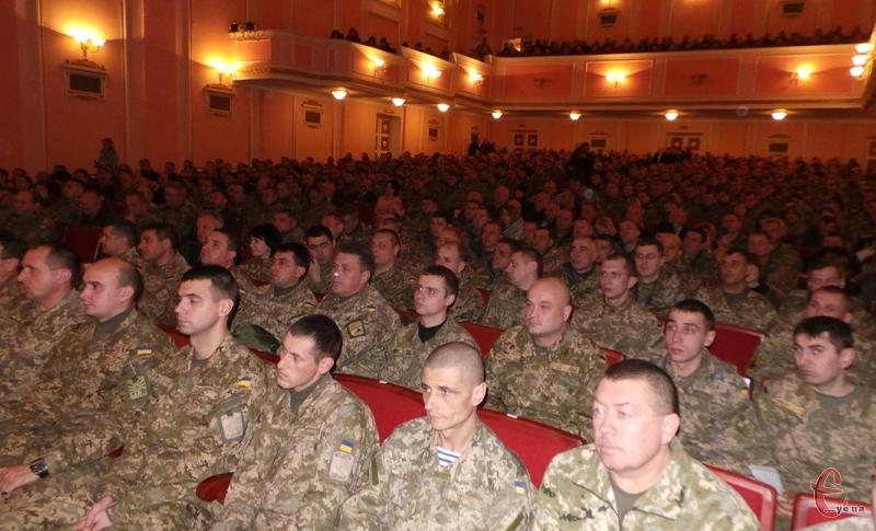 Приймали вітання військовослужбовці Хмельницького гарнізону