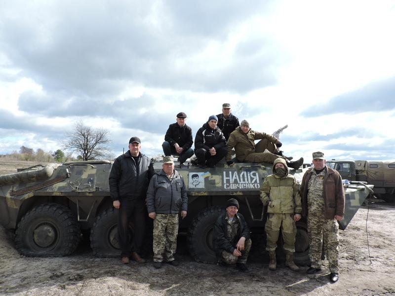 Надія Савченко воює на Сході