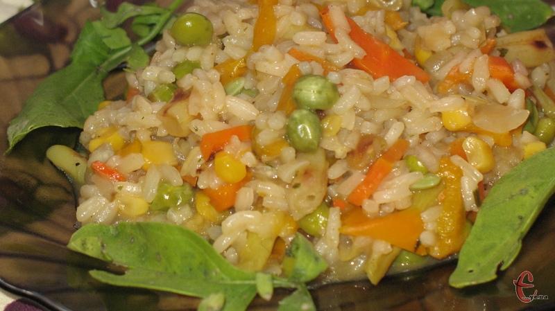 Комбінуйте склад овочів у різотто за своїм бажанням