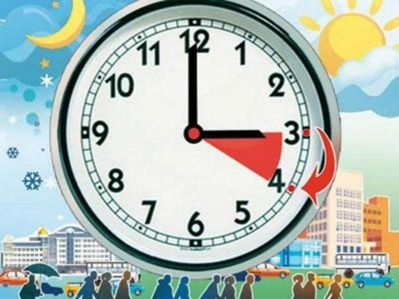 Стрілки годинника варто перевести о 3 годині ночі.