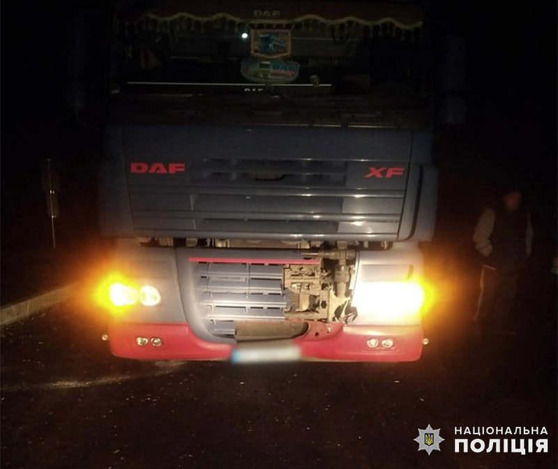 49-річний житель Херсонської області, керуючи вантажівкою, скоїв наїзд на 65-річну жительку села Велика Колибань