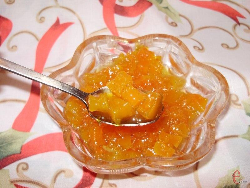 З такого варення можна згодом варити солодке желе або, додавши крохмаль, робити заготовку-начинку для випічки
