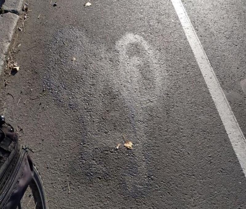 На Старокостянтинівському шосе «зникли» знаки на велосмузі