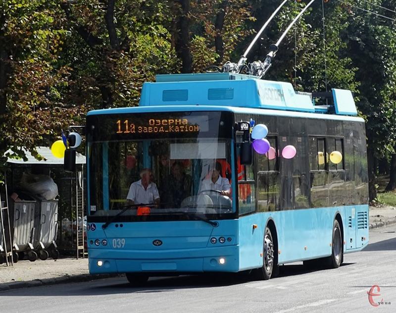 На маршруті №4 курсуватимуть тролейбуси з автономним ходом
