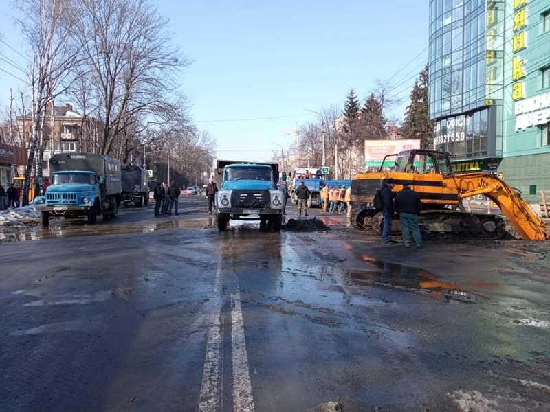 На вулиці Шевченка проводять ремонтні роботи