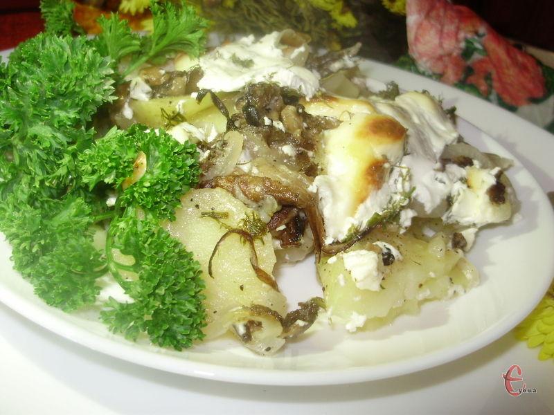 Картопелька з грибочками – це вже кулінарна класика.