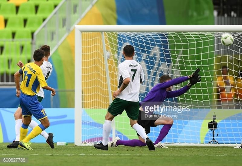 Капітан збірної України з футболу Володимир Антонюк (№11) відзначився дублем у півфінальному матчі на Паралімпіаді