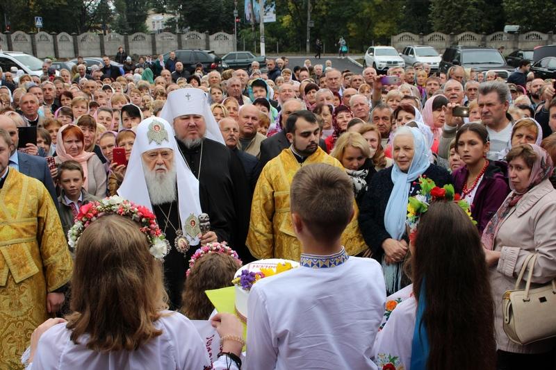 Патріарх Філарет освятив новозбудовану церкву