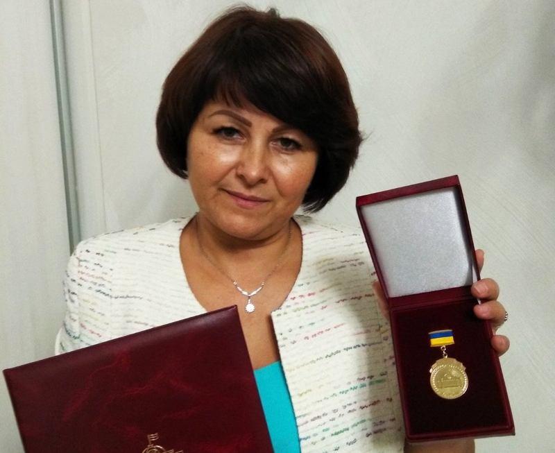Хмельницька освітянка отримала премію Верховної Ради україни