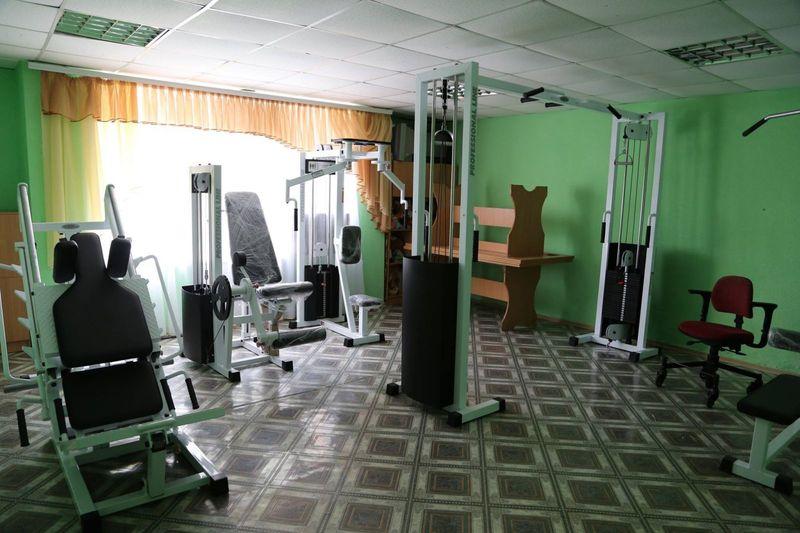 На базі облаштували дві сучасні тренажерні зали