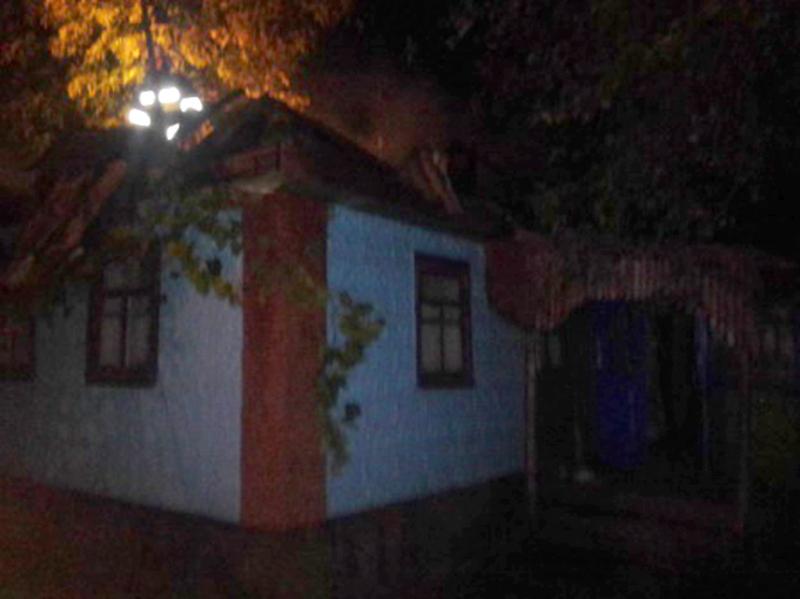 Вогонь спалахнув в одному із житлових будинків у селі Лагодинці