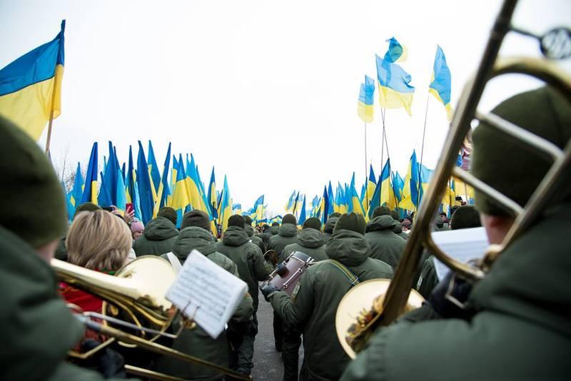 22 січня 2019 року на кордоні Хмельницької та Тернопільської областей нарахували понад три тисячі державних прапорів. І це рекорд України