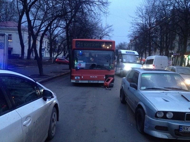 Аварія за участю автобуса сталася нарикінці дня