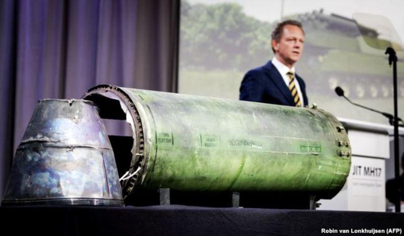 Частини ракети російської установки «Бук», яка знищила «Боїнг» на Донбасі влітку 2014 року.