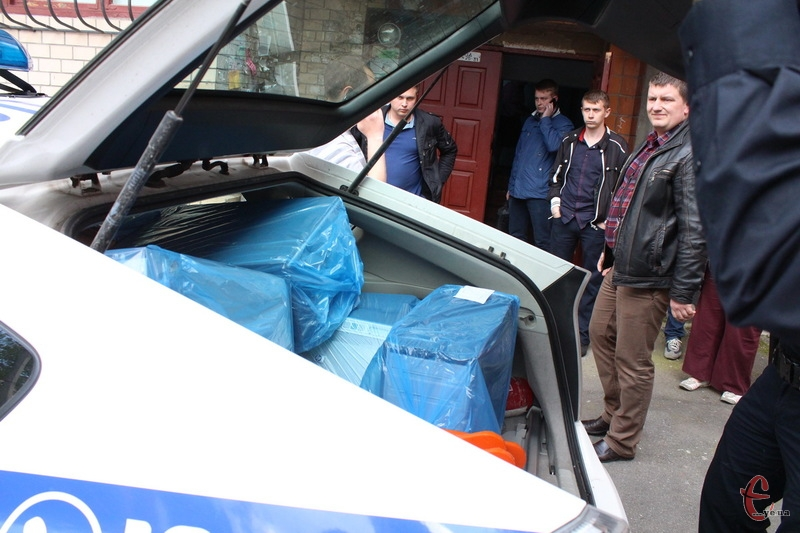 Найбільше всього вилучили речей в приміщенні, яке було розташоване на Героїв Майдану, 17