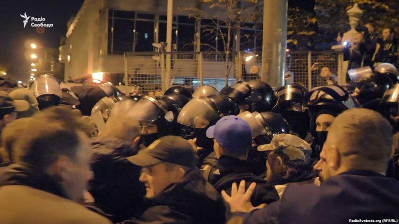 У Києві були зафіксовані декілька протистоянь учасників акції та правоохоронців