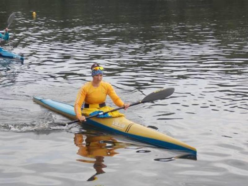 Інна Грищун на чемпіонаті України з веслування здобула золоту та срібну медалі