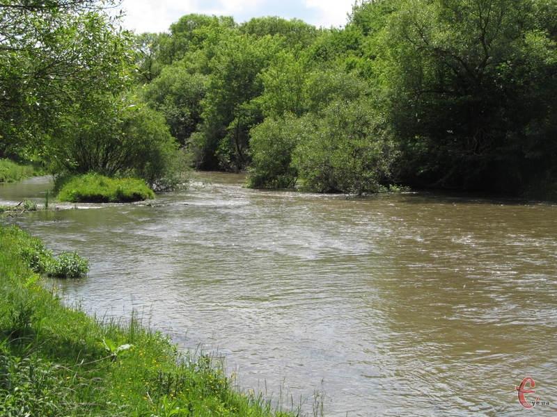 Річка Смотрич неподалік від Кам'янця-Подільського