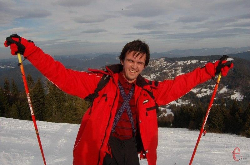 Мандрівник Дмитро Пашко щороку їздить кататися на лижах