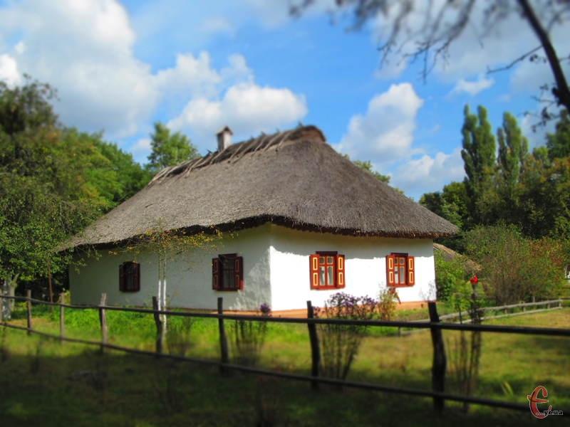 У музеї відтворена атмосфера українського села