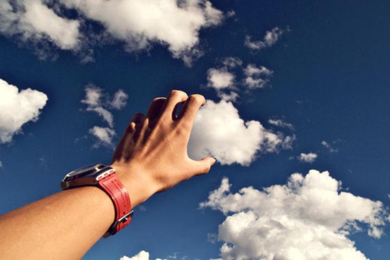 Сьогодні спека і гарні хмари