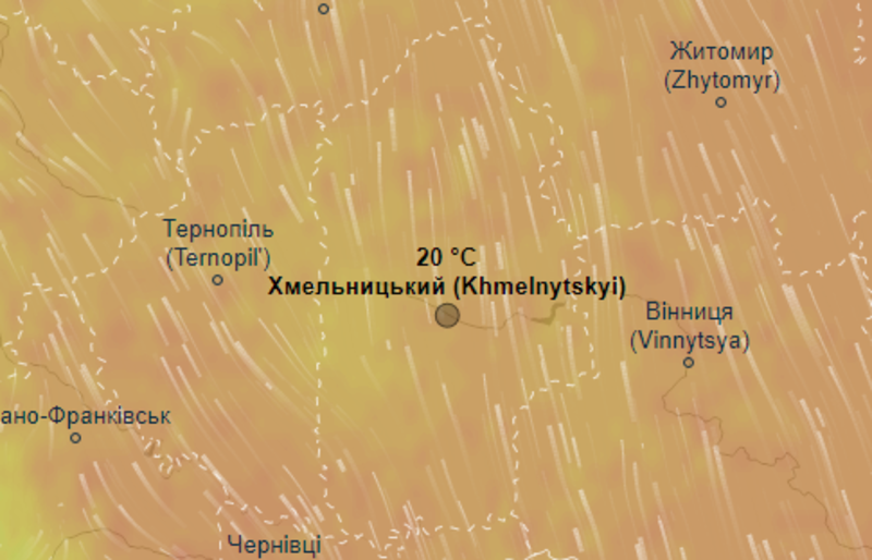 За даними синоптиків, 15 травня на Хмельниччині буде вдень до +20 градусів