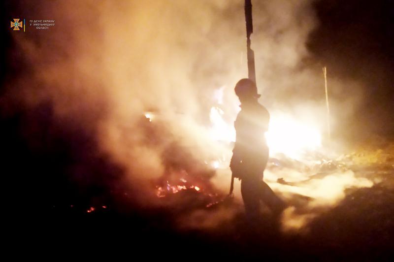 Впродовж минулої доби надзвичайники Хмельниччини ліквідували 8 пожеж