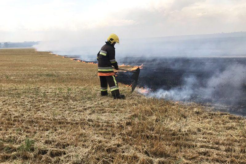 У Шепетівському районі горіла трава на площі понад 15 тисяч квадратних метри