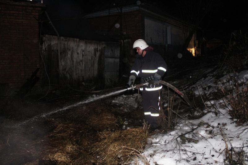 На момент прибуття рятувальників площа пожежі сягнула 45 метрів квадратних