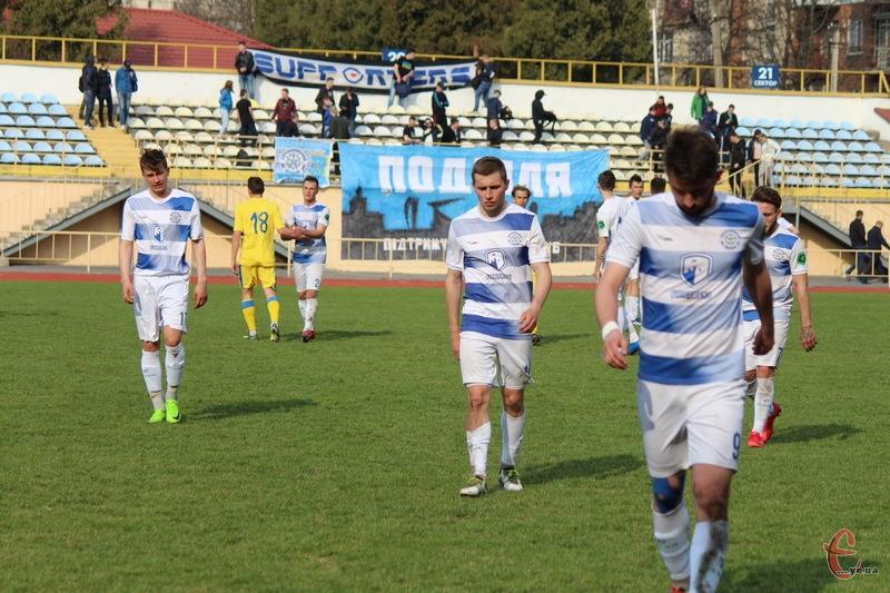 Футболісти Поділля після матчу 6 квітня проти Агробізнеса йшли з поля в пригніченому настрої