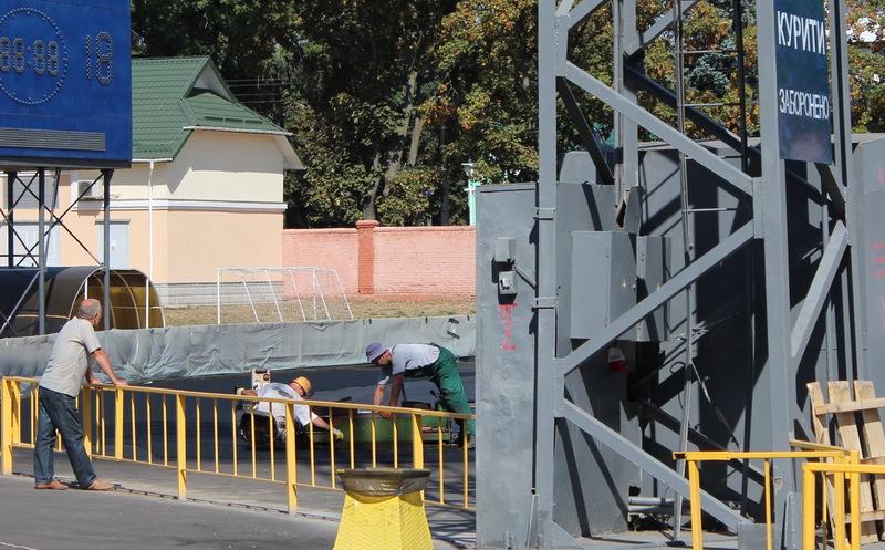 Поки на СК Поділля тривають ремонтні роботи, він закритий для проведення спортивних змагань