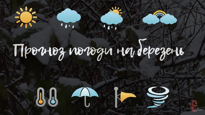 Березень, за прогнозами, буде нагадувати, здебільшого, не весну, а зиму