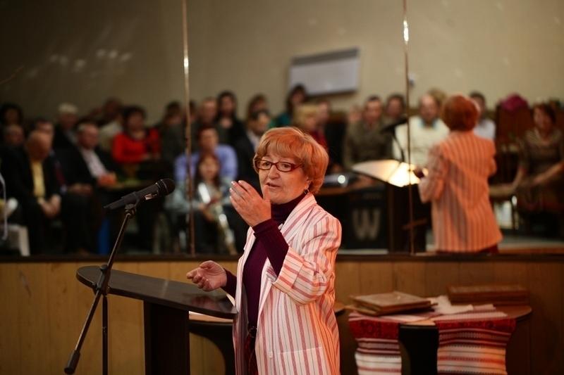 Тамара Скородим на святкуванні 75-річчя обласного науково-методичного центру культури і мистецтв, у вересні 2014 року