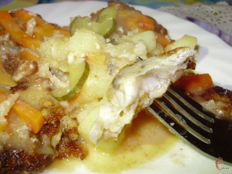 Подавати рибу по-охридськи як самостійну страву.