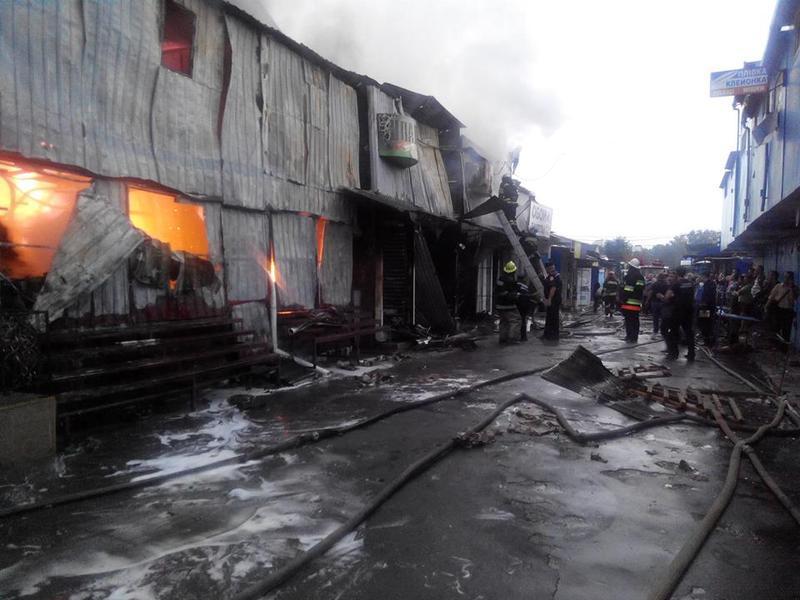 Пожежу на центральному міському ринку ліквідували