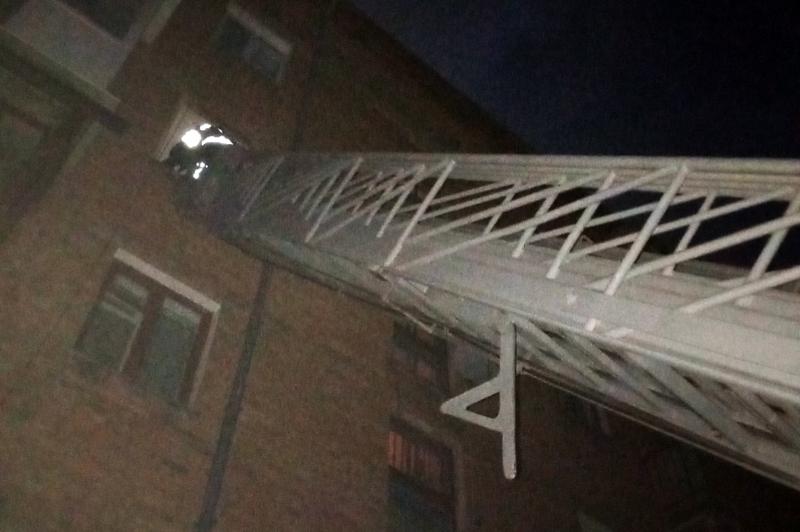 Рятувальники потрапили у квартиру за допомогою висувної драбини