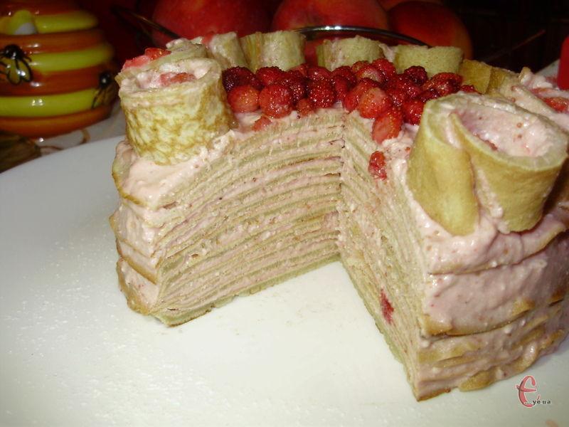 Тортик ніжний та ситний, до того ж, просочується в одну мить!