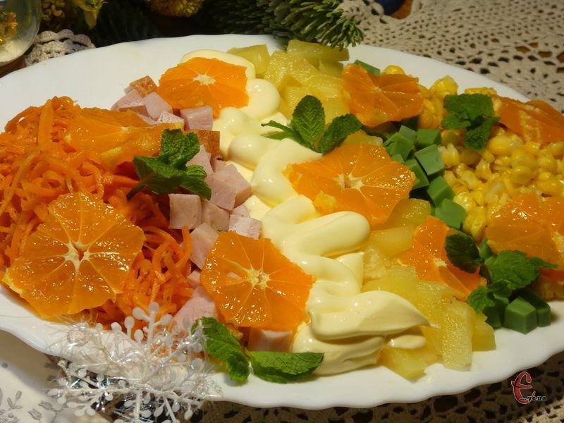 Цей салатик — дуже легка й водночас вишукана страва, проста в приготуванні, але чудова на смак.