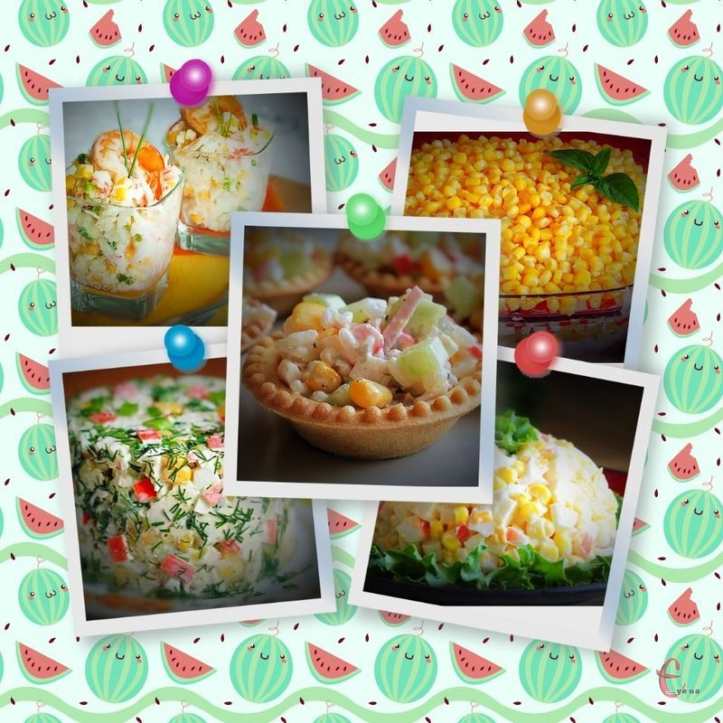 В крабовий салатик не лише можна додавати різні складові, але й щоразу сервірувати його по-новому!