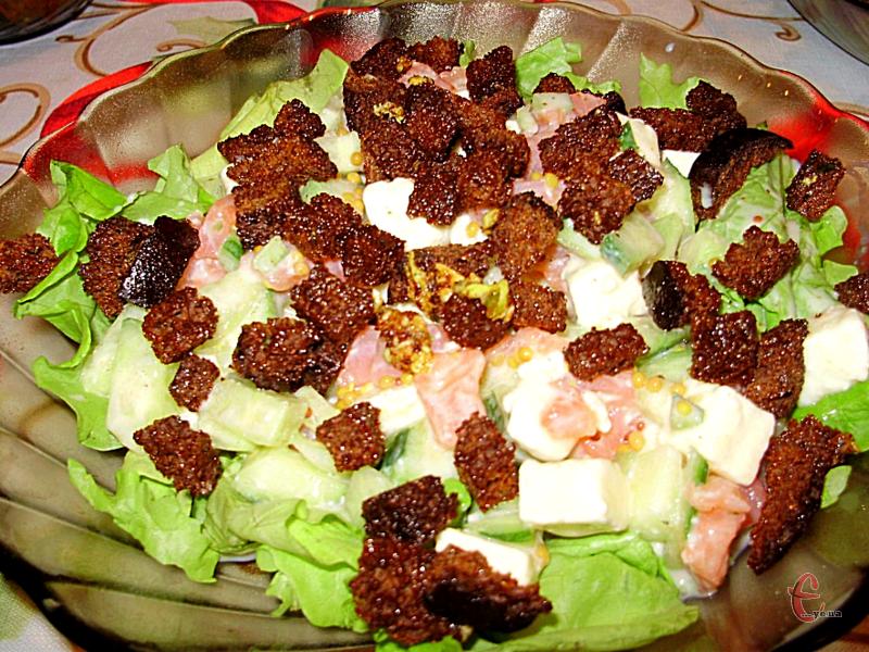 Смачний та корисний салатик, який прийде до смаку любителям червової рибки.