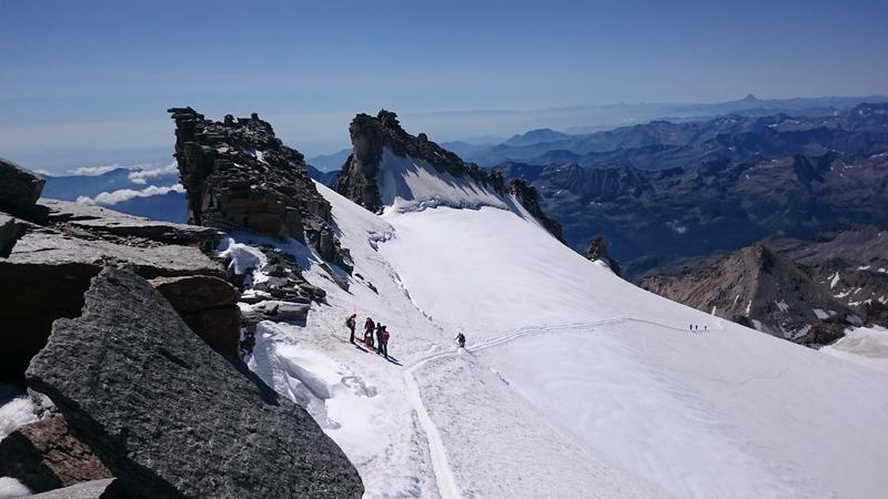 Вид на Альпи з вершини Гран-Парадізо