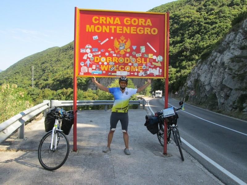 На в'їзді у Чорногорію