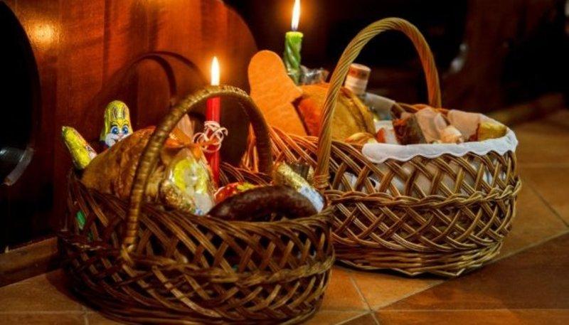 Великодній кошик збирається лише для благословіння продуктів, що можна вживати після закінчення Великого посту