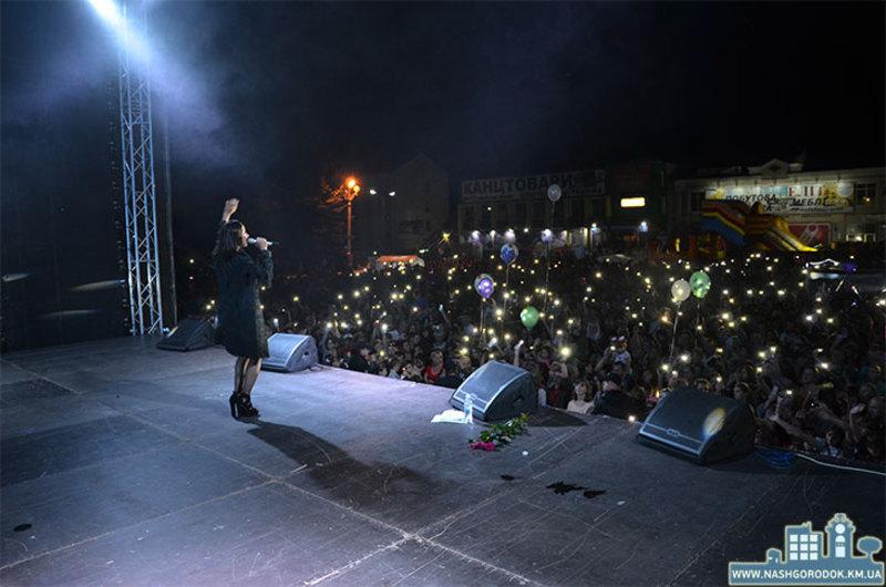 Злата Огнєвіч у Городку встигла заспівати всього кілька пісень.