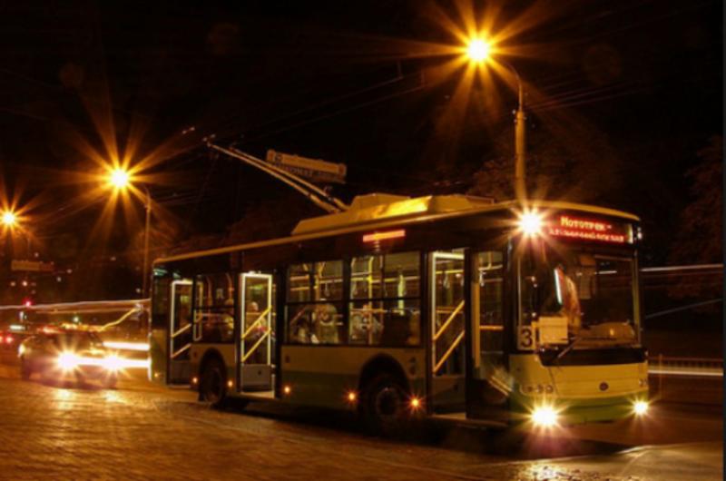 Сьогодні нічних тролейбусів не буде