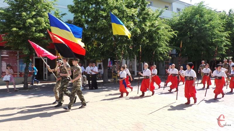 Учасники гри пройшлися маршем вулицею Проскурівською