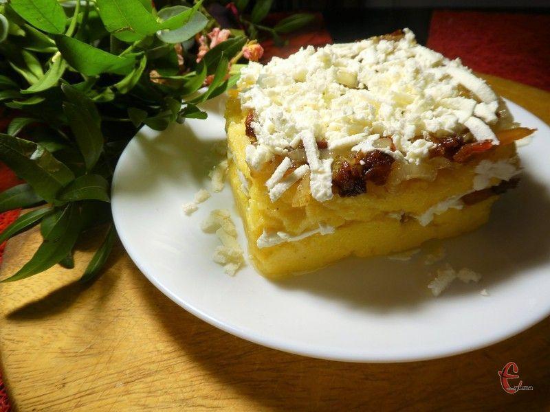Оригінальна популярна страва з кукурудзяної крупи за стародавнім рецептом закарпатських вівчарів.