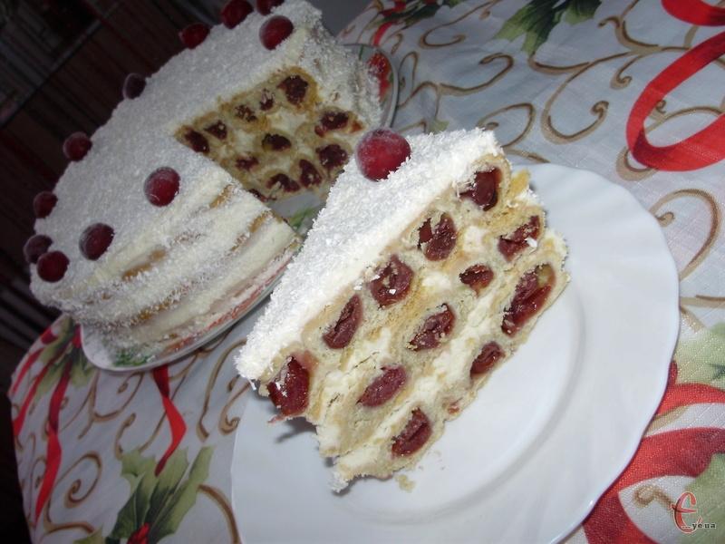 Ще одна цікава варіація торту «Монастирська хата» або «Вишнева гірка»